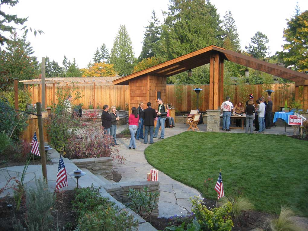 The new shelter encourages family and friends to gather